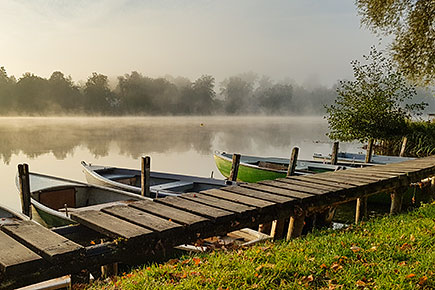 Anglerboote am Weßlinger See