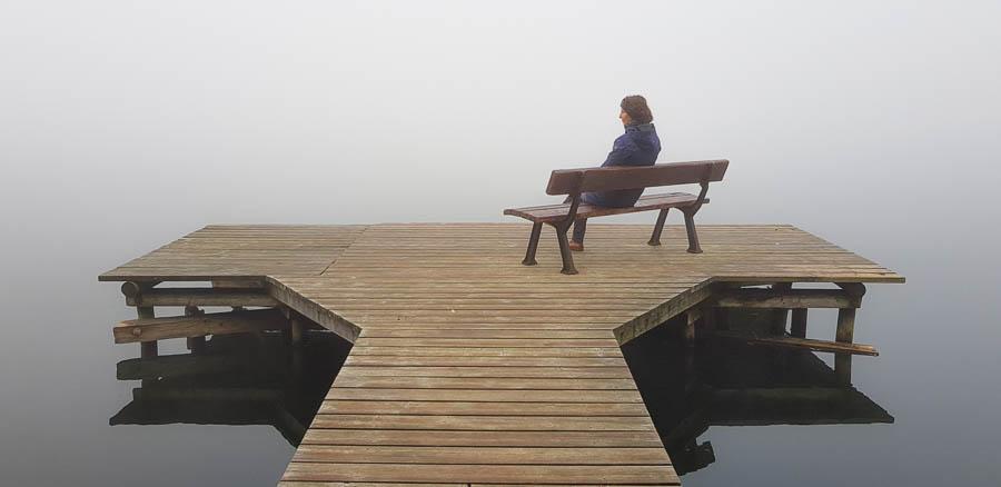Die Stille und Einsamkeit genießen