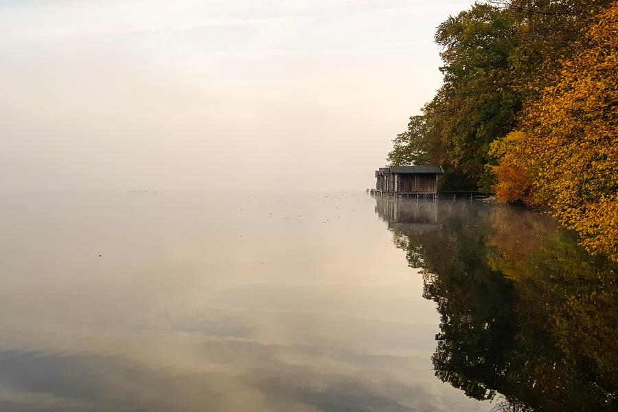 Ruhige Herbststimmung am Weßlinger See