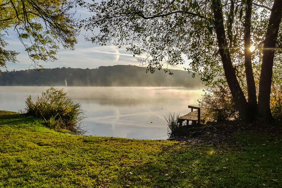 Der Weßlinger See im Morgennebel